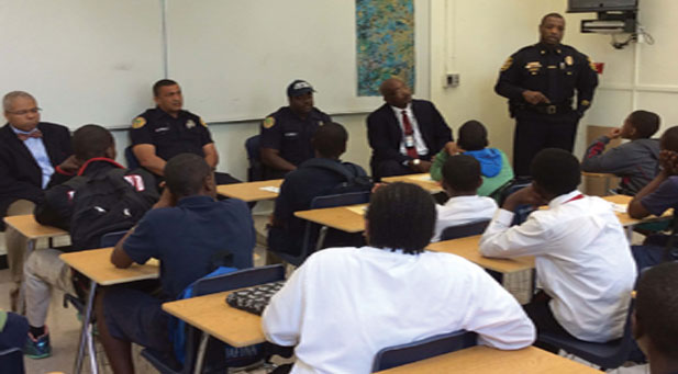 REAL TALK COMMANDER TIMOTHY 'Real Talk' Trayvon panel at Ponce Middle