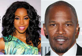 Kelly Rowland and Jamie Foxx