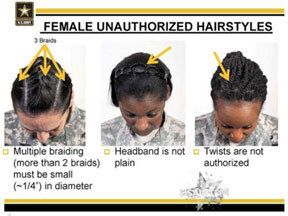 Black female troops Black female troops accuse Army of banning natural hair styles