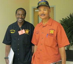 Neville Shorter (l) and VFW Post 8195 Commander Bobby White