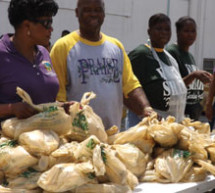 Tractor trailer delivers over 30,000 pounds of food to Liberty City residents