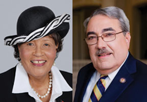 Rep. Alma Adams and Congressman Butterfield