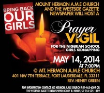 Prayer Vigil For The Nigerian School  Girls Kidnapping #BringBackOurGirls