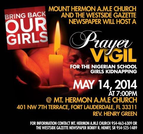 photo 1 Prayer Vigil For The Nigerian School  Girls Kidnapping #BringBackOurGirls