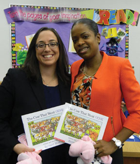 Attorneys Marissa Pullano  Young lawyers share joy of books with young readers
