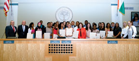 Miami Bayside Foundation Gr Miami Bayside awards 26 Scholarships at Miami City Council meeting