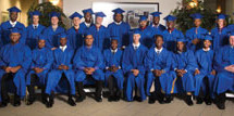 Graduates of the Youth Automotive Training Center celebrate during 35th commencement ceremony