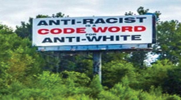 BIRMINGHAM BILLBOARD Birmingham billboard promotes racist 'mantra' created by white supremacist