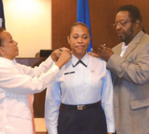 Captain Velma C. Gay was promoted
