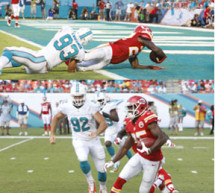 Dolphins fall 34-15 to Chiefs
