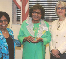 Dr. W. Blanca Moore-Velez president of the Broward County Chapter United Nations Association honored