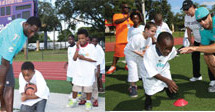 Miami Dolphins visit Sunland Park Elementary for Hometown Huddle event with United Way