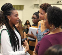 Tracy Mourning visits Hallandale Adult Community Center