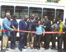 Northwest Federated Woman's Club and their Senior Center unveiling and blessing of their new 30 passenger bus