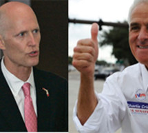 Crist leads Scott in Florida's Race for Governor. Will it last, making Florida Scott free or will Floridians be singing 'Good time Charlie got the blues'?