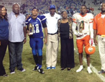 The Otis Gray Jr. Foundation presented MVP trophies to both teams of the 2014 Soul Bowl