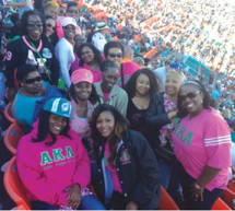 Zeta Rho Omega Chapter makes economic security a Miami Dolphins Group Experience