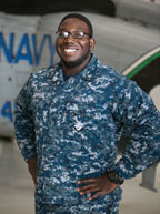 Native is serving with a U.S. Navy helicopter squadron that flies the MH-60R Sea Hawk