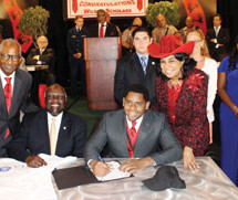 Congresswoman Frederica S. Wilson presented the 5000 Role Models graduating Class of 2015 at 'Academic Signing Day'