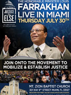 The Honorable Minister Louis Farrakhan to speak in Miami