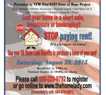 Free Veterans Homebuyer Seminar & Expo 8/29/15
