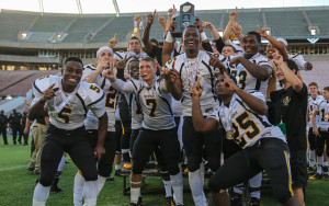 American Heritage High School celebrating a state championship victory.
