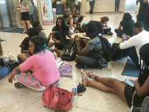Students protest treatment by Howard University