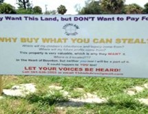 City threatens to arrest residents for placing signs on property