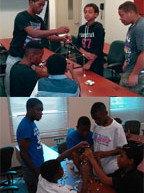 100 Black Men of Greater Fort Lauderdale's  Leadership Academy tackles Marshmallow Challenge