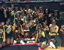 Lauderhill Lions Cheerleaders win first place at the FYLFC Cheer Competition