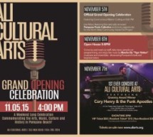 ALI Cultural Arts Grand Opening Celebration beginning Nov 05, 2015 at 4:00PM
