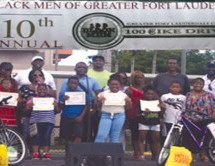 100 Black Men of Greater Fort Lauderdale sponsors 10th Annual Bike Drive