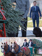 First Lady Michelle Obama welcomed the Official White House Christmas Tree