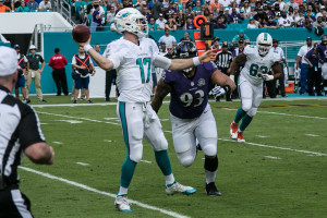Miami Dolphins starting quarterback Ryan Tannehill.