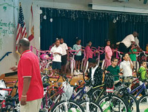 Kappa Foundation of Pompano Beach shares books, bikes and dolls