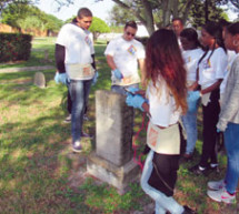 PLANTATION HIGH SCHOOL'S WOODLAWN CEMETERY CLEAN UP PROJECT