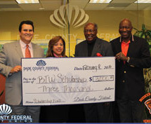 B.T.W, HIGH SCHOOL FOUNDATION RECEICES $3,000 SCHOLARSHIP DONATION FROM DADE COUNTY FEDERAL CREDIT UNION