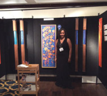 Yvette Michelle is awarded first place at the ninth annual Lauderdale Yacht Club Fine Art Fair