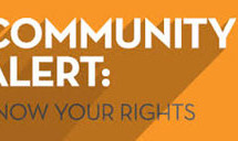 Know your Rights: The Community Wants to Know Forum