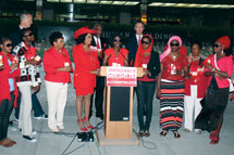 Congresswoman Frederica S. Wilson hosts candlelight vigil at the U.S. State Department to honor the Chibok Girls