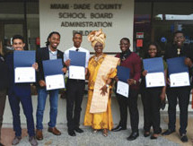 As proposed by School Board Vice Chair Dr. Dorothy Bendross-Mindingall, School Board recognizes William H. Turner Tech Senior High School students for their extraordinary academic achievements