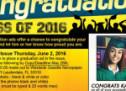 Congratulations Class of 2016 Special Graduation Ads