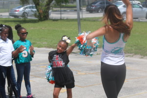 Miami Dolphins Gatorade Junior Training Camp at Barbara Hawkins Elementary