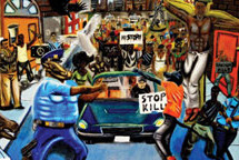 Congressional art contest winner depicts police brutality and protests