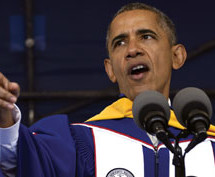 Obama urges graduates to continue needed change