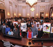 Hundreds of Black Men and Boys from around the country go to Washington D.C. for Black Youth Vote Hill Day