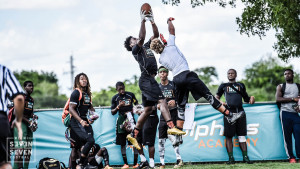 High School athletes compete in the Dolphins Academy 7on7 Tournament