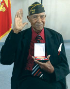 CORPORAL ERNEST SNEED, 92, RECEIVES THE CONGRESSIONAL GOLD MEDAL