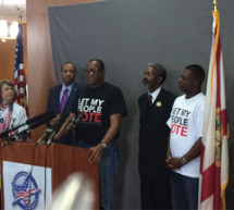 Voter Rights activists hold events across Florida calling for an end to disenfranchisement