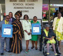As proposed by School Board Vice Chair Dr. Dorothy Bendross-Mindingall, School Board honors the International Longshoremen's Association Local #1416 and Nu Chapter of Chi Eta Phi Nursing Sorority, Inc.